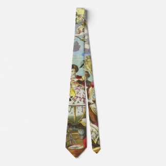 Vintage Explorers with Antique Globe Map, 1542 Tie