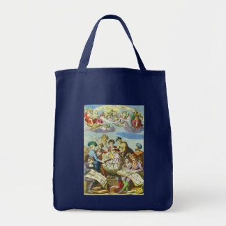 Vintage Explorers with Antique Globe Map, 1542 Tote Bag