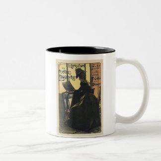 Vintage Exposition des Peiltres Lithographes Two-Tone Mug