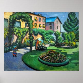 Vintage Expressionism, A Garden, Gartenbild, Macke Poster