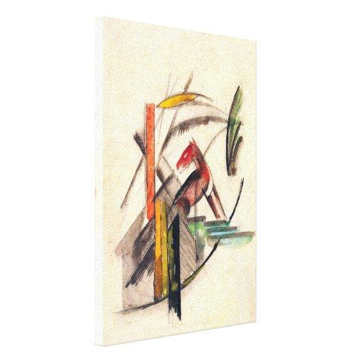 Vintage Expressionism Art, Animal by Franz Marc Canvas Print