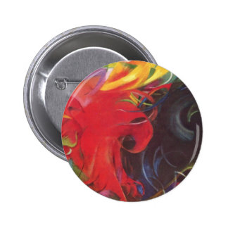 Vintage Expressionism Fighting Forms by Franz Marc 6 Cm Round Badge