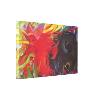 Vintage Expressionism Fighting Forms by Franz Marc Gallery Wrapped Canvas