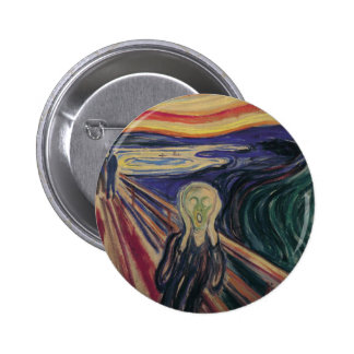 Vintage Expressionism, The Scream by Edvard Munch 6 Cm Round Badge