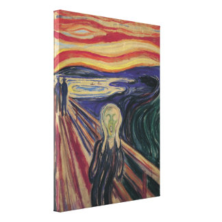 Vintage Expressionism, The Scream by Edvard Munch Stretched Canvas Print