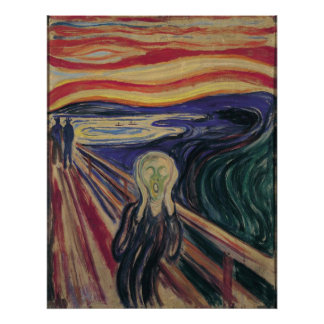Vintage Expressionism, The Scream by Edvard Munch Poster