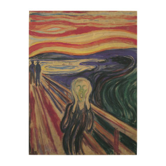 Vintage Expressionism, The Scream by Edvard Munch Wood Prints