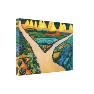 Vintage Expressionism, Vegetable Fields by Macke Gallery Wrapped Canvas