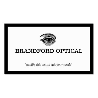 Vintage Eye Ball Ophthalmologist Optometry Doctor Pack Of Standard Business Cards