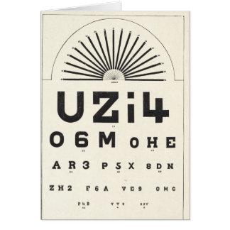 Vintage Eye Chart Card