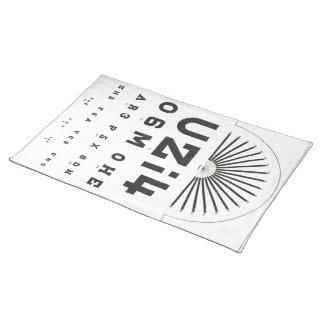 Vintage Eye Chart Placemat