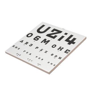 Vintage Eye Chart Tile