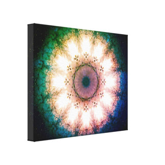Vintage Eye Mandala Canvas Print