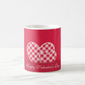 Vintage Fabric Hearts in Pink Coffee Mug