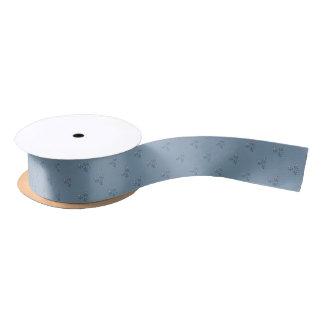 Vintage Fabric-Inspired Gray-Blue Ribbon Satin Ribbon