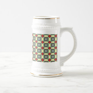 Vintage Fabric Pattern Elegant Red Green Gold Coffee Mug