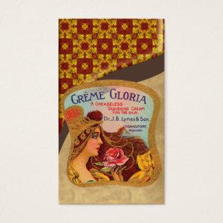 Vintage Facial Cream Poster Business Card