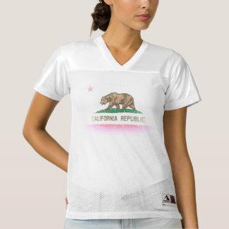 Vintage Fade Flag of California Republic Women's Football Jersey