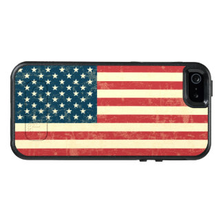 Vintage Faded American Flag USA OtterBox iPhone 5/5s/SE Case