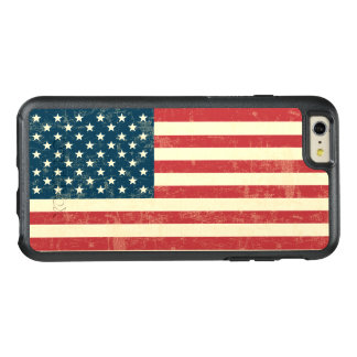 Vintage Faded American Flag USA OtterBox iPhone 6/6s Plus Case