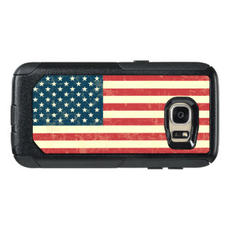 Vintage Faded American Flag USA OtterBox Samsung Galaxy S7 Case