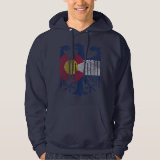 Vintage Faded Flag of Colorado German Eagle Hoodie