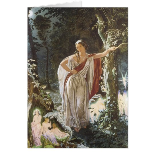 Vintage Faerie Greeting Card