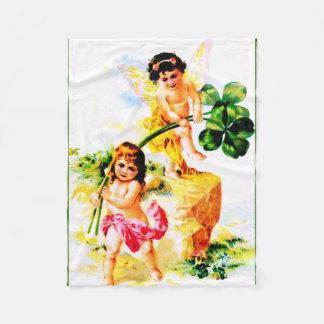 Vintage Fairies Fleece Blanket