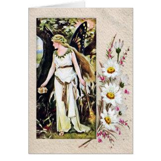 Vintage Fairy Card