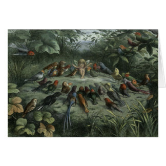 Vintage - Fairy Conducts Songbirds, Card