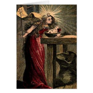 Vintage Fairy Godmother Card
