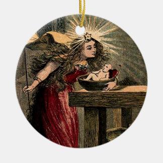 Vintage Fairy Godmother Ceramic Ornament