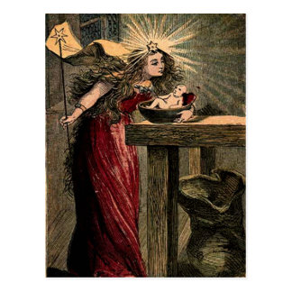 Vintage Fairy Godmother Postcard