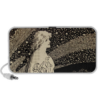 Vintage Fairy Lady Graphic Bold Graham Robertson Travel Speaker