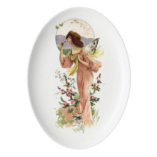 Vintage Fairy Moonlight Porcelain Serving Platter