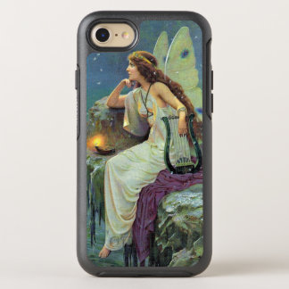 Vintage Fairy on Cliff in Candlelight With Harp OtterBox Symmetry iPhone 8/7 Case