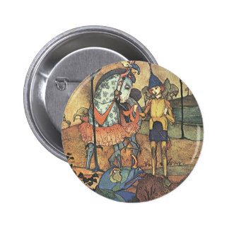 Vintage Fairy Tale, A Brave Knight and Dragon 6 Cm Round Badge