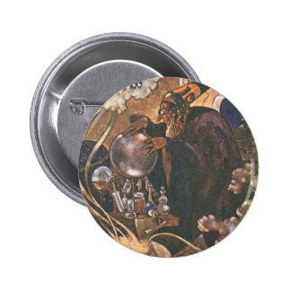Vintage Fairy Tale, Aladdin and the Magic Lamp 6 Cm Round Badge