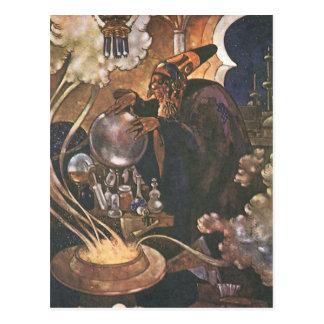 Vintage Fairy Tale, Aladdin and the Magic Lamp Postcard