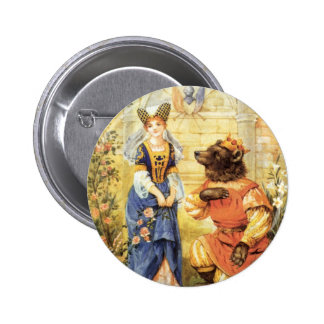 Vintage Fairy Tale, Beauty and the Beast 6 Cm Round Badge
