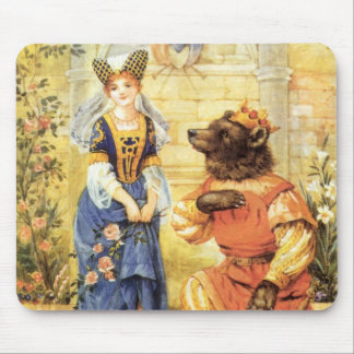 Vintage Fairy Tale, Beauty and the Beast Mouse Pads