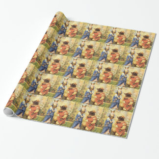 Vintage Fairy Tale, Beauty and the Beast Wrapping Paper