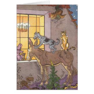 Vintage Fairy Tale, Bremen Town Musicians, Hauman Card