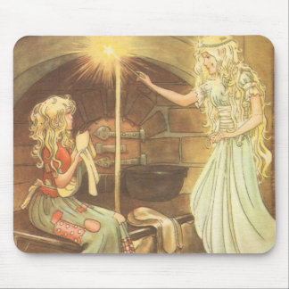 Vintage Fairy Tale, Cinderella and Fairy Godmother Mouse Pads