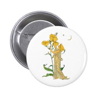 Vintage Fairy Tale, Evening Primrose, Walter Crane 6 Cm Round Badge