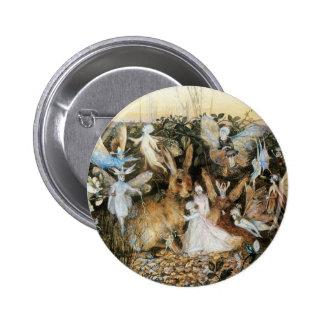 Vintage Fairy Tale Fairy Twilight, John Fitzgerald Pinback Buttons
