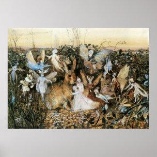 Vintage Fairy Tale Fairy Twilight John Fitzgerald Poster