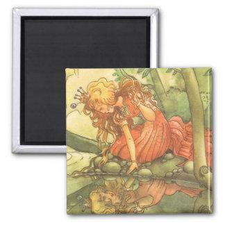 Vintage Fairy Tale, Frog Prince Princess by Pond Magnet