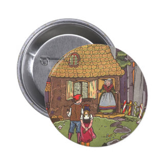 Vintage Fairy Tale, Hansel and Gretel by Hauman 6 Cm Round Badge