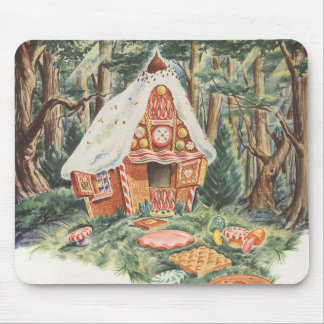 Vintage Fairy Tale, Hansel and Gretel Candy House Mousepads